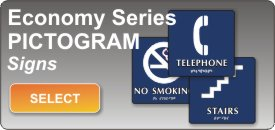 pictogram signs economy series