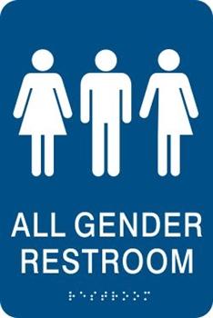 all gender ada braille restroom sign