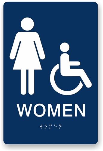ada braille women 39 s restroom sign