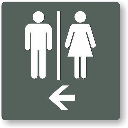 Restroom Directional Restroom Sign To Meet Ada Requirements For Tactile Signs
