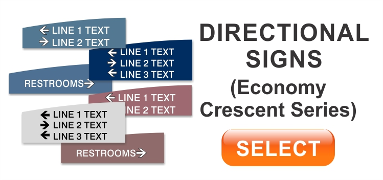crescent economy directional sign