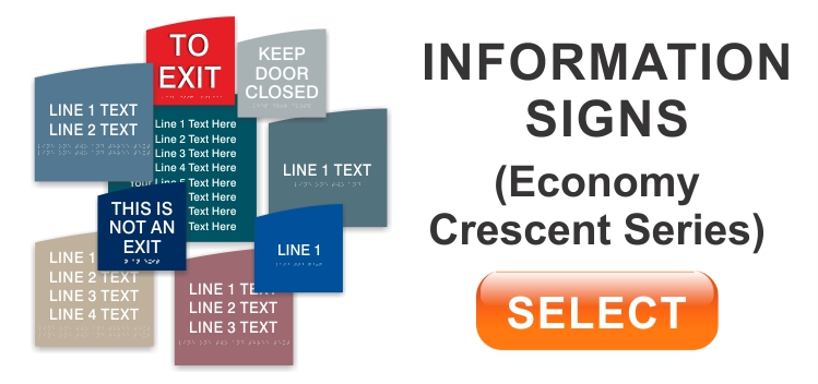 crescent economy information signs