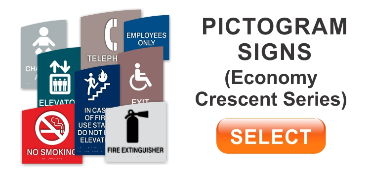 crescent economy pictogram signs