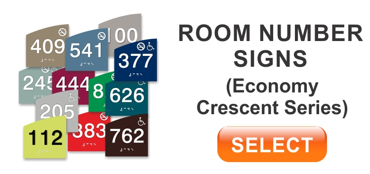 cescent economy room number sign
