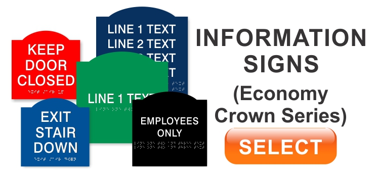 Economy Crown Information signs