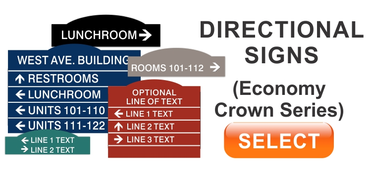Economy Crown Directional Signs