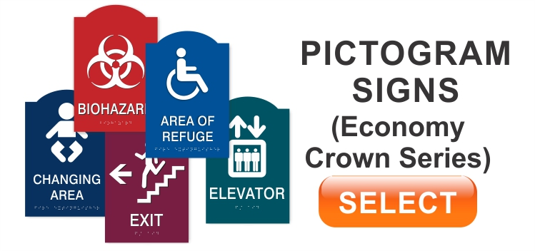 Economy Crown Pictogram Signs