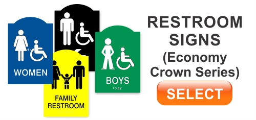 Economy Crown Restroom Signs