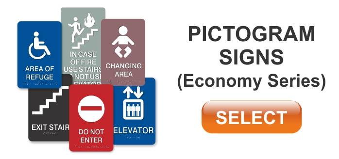economy series pictogram signs