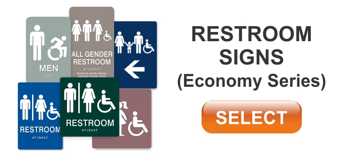 economy series ADA restroom sign