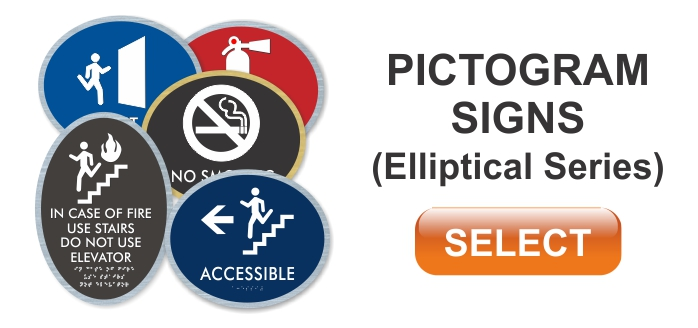 elliptical series pictogram signs