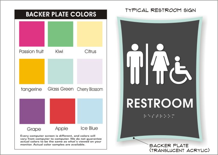 urban restroom plate colors
