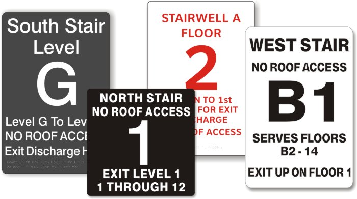 stairwell signs ADA