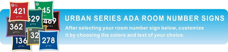 urban ADA braille room number signs