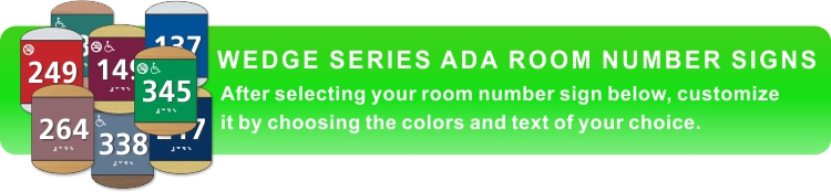 wedge series ADA braille room number signs