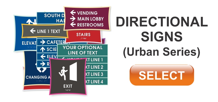 urban series ADA directional signs