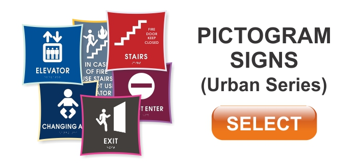 urban series pictogram signs