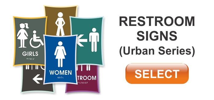 urban series ADA restroom sign