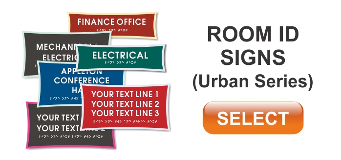 urban series ADA room id signs