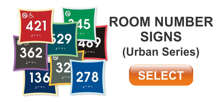 urban series ADA room number signs