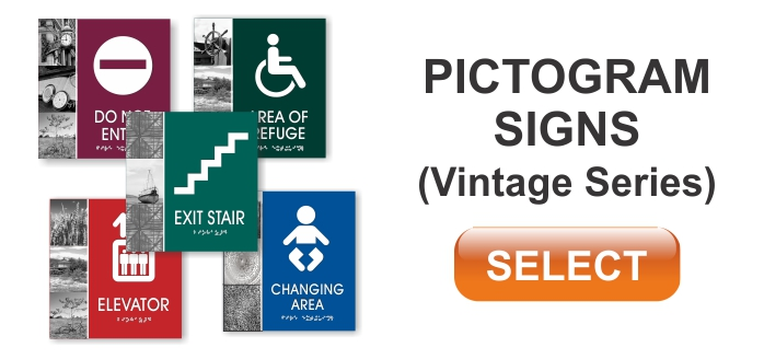 vintage series pictogram signs