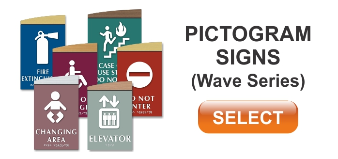 wave series pictogram signs