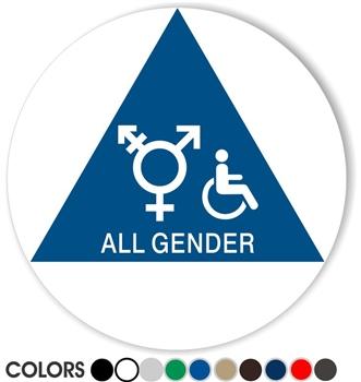 Bathroom Signs California title 24 braille bathroom signs | geometric california bathroom signs