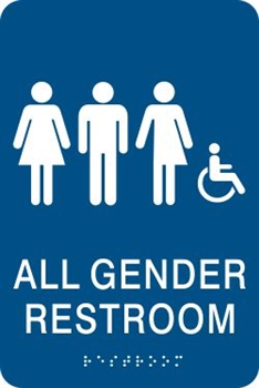 All Gender Bathroom Sign Gender Inclusive Bathroom Signs