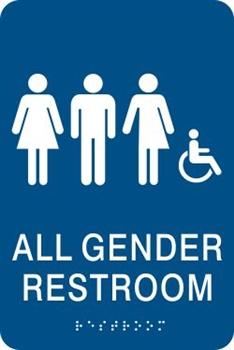 All Gender Bathroom Sign | Gender Inclusive Bathroom Signs