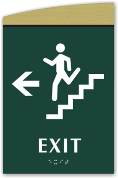 Braille Stair Exit Directional Sign To Meet Ada